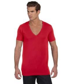 Bella + Canvas 3105 Unisex Jersey Short-Sleeve Deep V-Neck T-Shirt