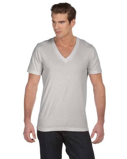 bella + canvas 3105 unisex jersey short-sleeve deep v-neck t-shirt front image