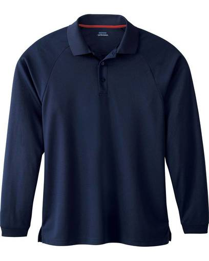 extreme 85099 men's long sleeve eperformance™  piqué polo front image