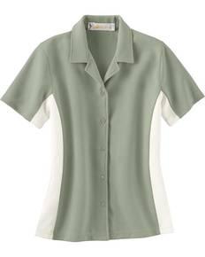 Il Migliore 77016 Ladies' Knit Ottoman Color-Block Camp Shirt