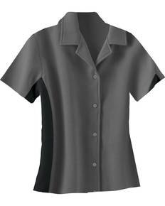 Il Migliore 77016 Ladies' Knit Ottoman Color-Block Camp Shirt