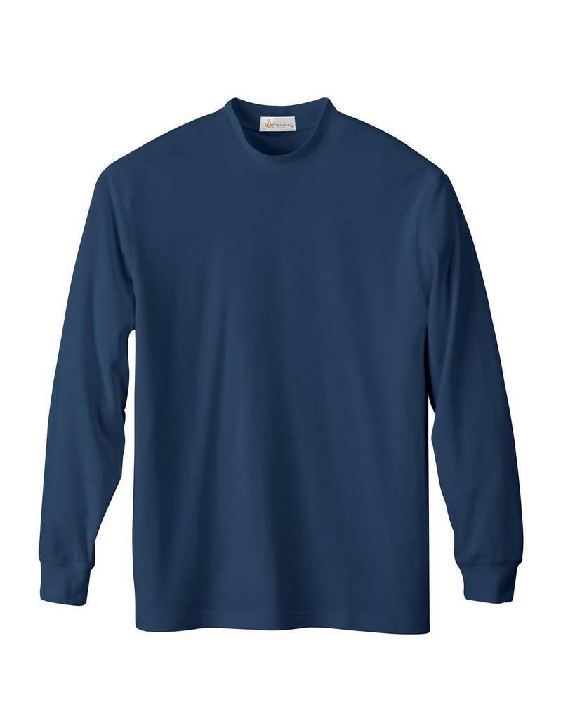 Il migliore 85070 men 39 s interlock mock neck long sleeve for Mock long sleeve t shirts