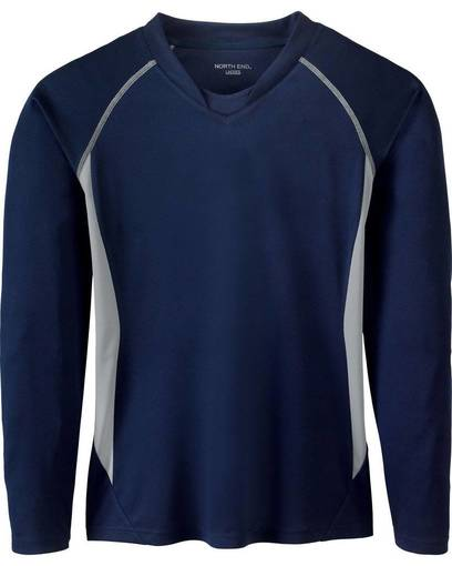 north end 78079 ladies' athletic long sleeve sport top front image