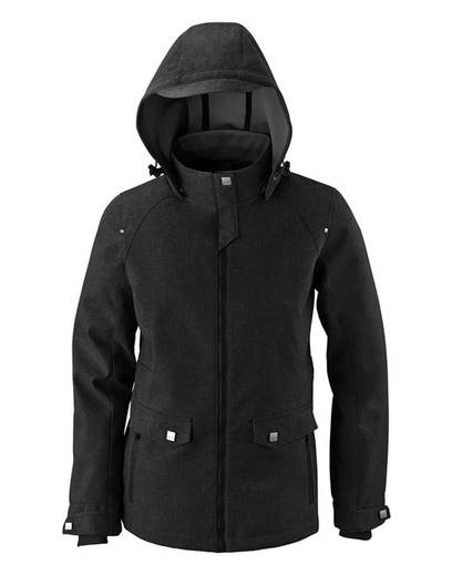 north end 78672 ladies' uptown three-layer light bonded city textured soft shell jacket front image