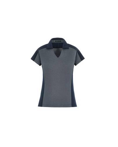 north end sport blue 78692 merge ladies' cotton blend melange polo front image