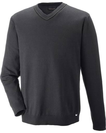 north end 81010 merton men's soft touch v-neck sweater front image