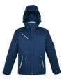 north end 88209 men's rivet textured twill insulated jacket Front Thumbnail