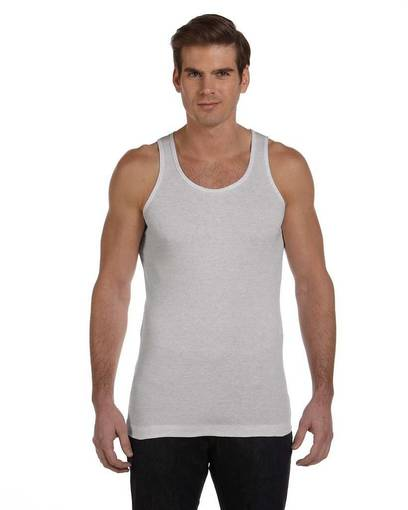 bella + canvas 3400c bella 3400c men's 2x1 rib tank front image
