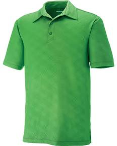 North End 88659 Men's Maze Performance Stretch Embossed Print Polo