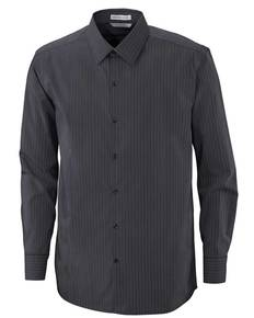 Ash City - North End 88674 Men's Boardwalk Wrinkle-Free Two-Ply 80's Cotton Striped Tape Shirt