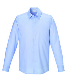 North End Sport Blue 88689 REFINE Men's Wrinkle Free 2-Ply 80'S Cotton Royal Oxford Dobby Taped Shirts