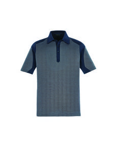 North End Sport Blue 88692 Merge Men's Cotton Blend Melange Polo