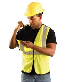 OccuNomix ECOGCBL Men's High Visibility Value 5-pt. Break-Away Safety Mesh Vest