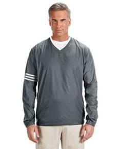adidas-golf-a147-men-39-s-climalite-colorblock-v-neck-wind-shirt
