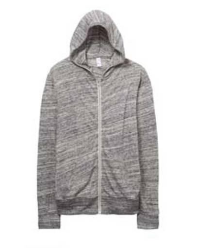 alternative aa1970 unisex eco-jersey™ zip hoodie front image