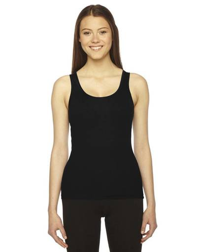 american apparel am3308 ladies' rib tank front image