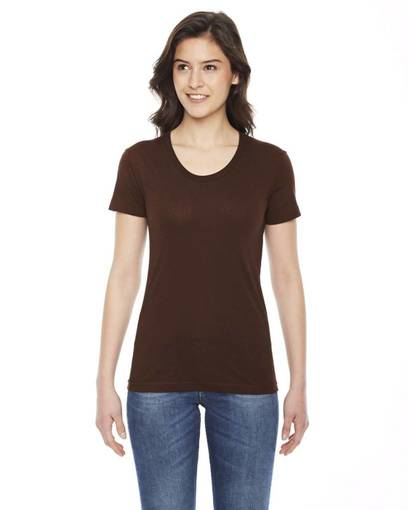 american apparel bb301 ladies' poly-cotton short-sleeve crewneck front image