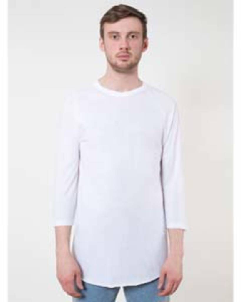 American Apparel Bb453 Unisex Poly Cotton Usa Made 3 4