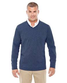 Devon & Jones D884 Adult Fairfield Herringbone V-Neck Pullover
