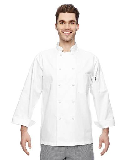 dickies dc109 7 oz. cloth knot button chef coat front image