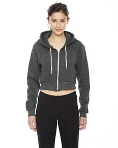 American Apparel F397 Ladies' Cropped Flex Fleece Zip Hoodie