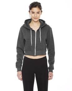 American Apparel F397 Ladies' Cropped Flex Fleece Zip Hoodie