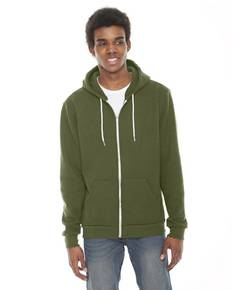 American Apparel F497 Unisex Flex Fleece USA Made Zip Hoodie