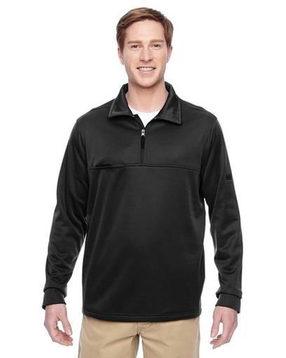 harriton m730 adult task performance fleece quarter-zip jacket front image