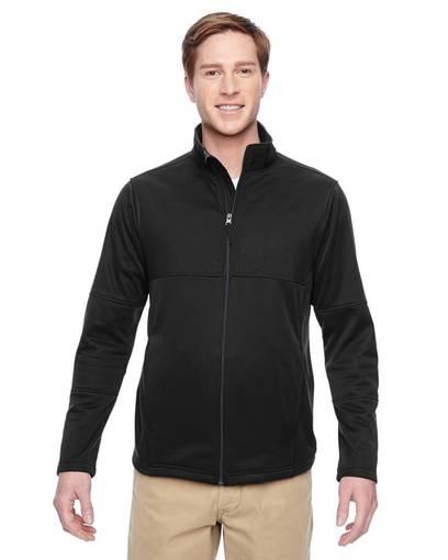 harriton m745 men's task performance fleece full-zip jacket front image