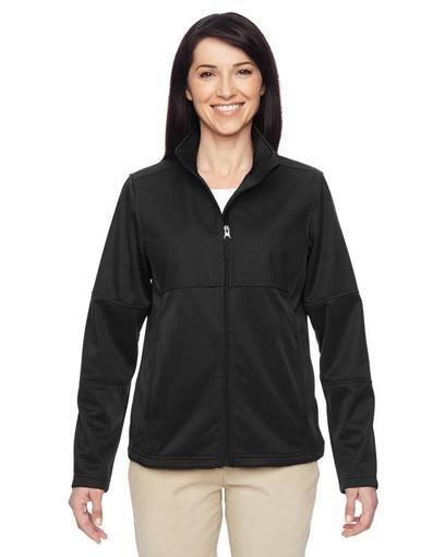 harriton m745w ladies' task performance fleece full-zip jacket front image