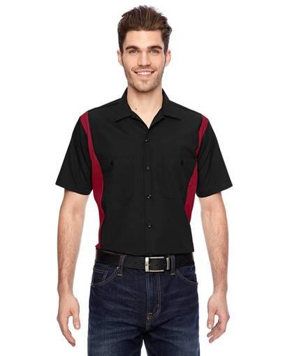 dickies ls524 men's 4.25 oz. industrial colorblock shirt front image