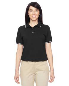 Harriton M270W Ladies' 5.6 oz. Tipped Easy Blend™ Polo