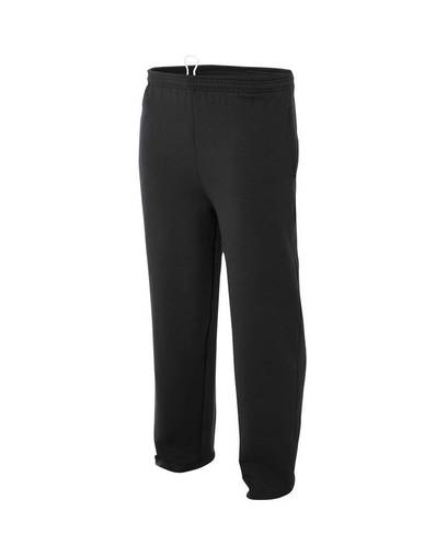 a4 nb6193 youth fleece tech pants Front Fullsize