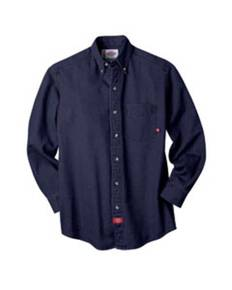 dickies-drop-ship-wl300-unisex-long-sleeve-button-down-denim-shirt