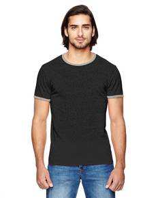 Alternative 01957E Men's Eco-Mock Twist Ringer Crew T-Shirt