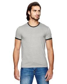 Alternative 01957E Men's Eco-Mock Twist Ringer Crew T-Shirt
