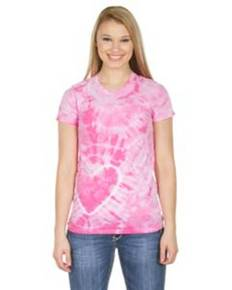 Dyenomite Drop Ship 150HT Junior Heart Tie-Dye T-Shirt