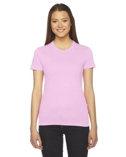 american apparel 2102 ladies' fine jersey usa made short-sleeve t-shirt front image