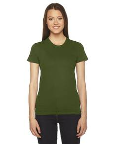 American Apparel 2102 Ladies' Fine Jersey USA Made Short-Sleeve T-Shirt