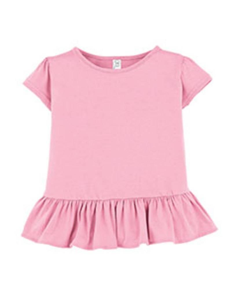 284eda717ca5b Rabbit Skins 3327 Toddler Ruffle Fine Jersey T-Shirt