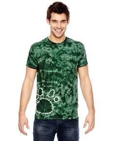 Dyenomite 365PR for Team 365 Team Paw Print Tie-Dyed T-Shirt