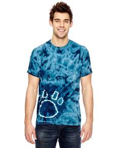 Dyenomite 365PR for Team 365 Team Paw Print Tie-Dyed T-Shirt