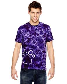 Tie-Dye 365PR for Team 365 Adult Team Paw Print Tie-Dyed T-Shirt