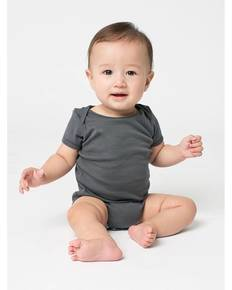 American Apparel 4001 Infant Baby Rib Short-Sleeve One-Piece