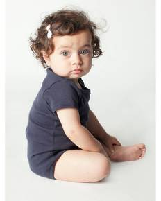 American Apparel 4001 Infant Baby Rib Short-Sleeve One-Piece