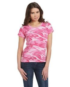 Code V 3665 Ladies' Fine Jersey Camouflage T-Shirt