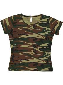 Code Five 3665 Ladies' Camo T-Shirt