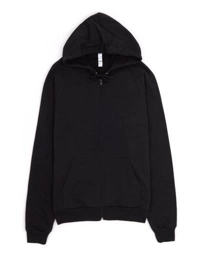american apparel 5497 unisex california fleece zip hoodie front image
