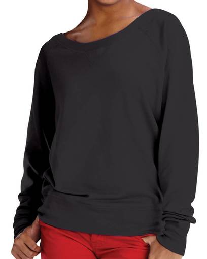 lat 3752 lat drop ship 3752 junior lightweight french terry slouchy pullover Front Fullsize