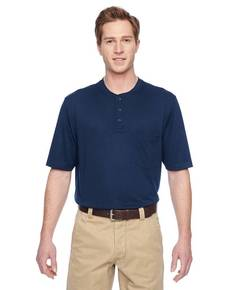 Harriton M400 Adult Short-Sleeve Performance Henley